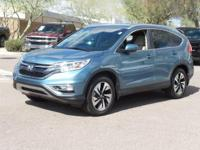 Clean CARFAX.  2016 Honda CR-V Touring 26/32mpg 2.4L I4