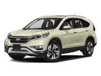 Clean CARFAX. CR-V Touring Silver Awards: * ALG