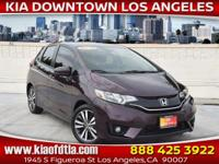 Clean CARFAX. Purple 2016 Honda Fit EX 4D Hatchback FWD