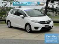 Certified. White Orchid 2016 Honda Fit LX FWD CVT 1.5L