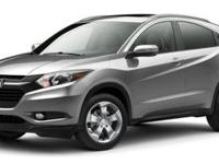 This 2016 Honda HR-V EX-L in Crystal Black Pearl