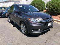 Clean CARFAX. Gray 2016 Honda HR-V EX-L w/Navigation 4D