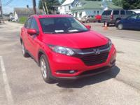 2016 Honda HR-V EX-L In Red. One owner condition coming