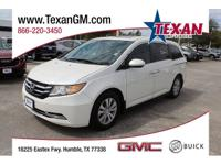 New Price! CARFAX One-Owner. White 2016 Honda Odyssey
