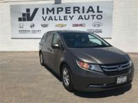Beautiful in Gray, our 2016 Honda Odyssey EX-L lets you