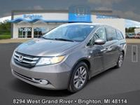 Options:  2016 Honda Odyssey Touring|Brown|New Price!