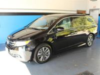 Black 2016 Honda Odyssey Touring FWD 6-Speed Automatic