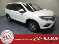 This 2016 Honda Pilot EX-L is White exterior with Gray