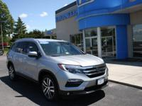 Honda Certified 2016 Pilot Elite, AWD, LOADED!