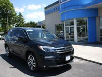 Honda Certified 2016 Pilot Elite, Navigation, Leather,
