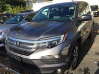 Carfax 1 Owner! Accident Free! 2016 Honda  Pilot EX-L,