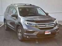 CARFAX One-Owner. Clean CARFAX. Gray 2016 Honda Pilot