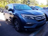 CARFAX One-Owner. Clean CARFAX. Blue 2016 Honda Pilot