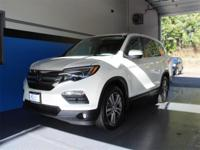CARFAX One-Owner. Clean CARFAX. White 2016 Honda Pilot