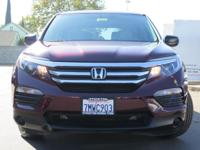 Options:  2016 Honda Pilot Sport Utility Lx|Red|3.5L V6