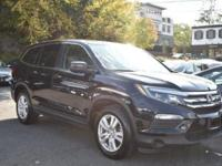 CARFAX One-Owner. Clean CARFAX. Black 2016 Honda Pilot