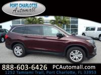 CARFAX One-Owner. Clean CARFAX. Red 2016 Honda Pilot LX