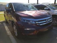 CARFAX One-Owner. Red 2016 Honda Pilot LX FWD 6-Speed