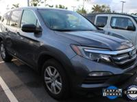 HONDA CERTIFIED and LEATHER. Pilot LX w/Leather and