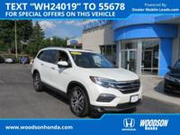 Honda Certified 2016 Pilot Touring AWD, Loaded!   All