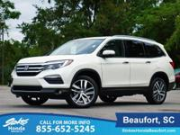 2016 Honda Pilot in Diamond White. Gas super saver.