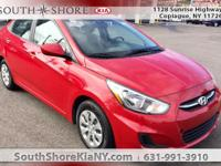 Red 4D Sedan 2016 Hyundai Accent SE FWD 6-Speed