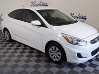 2016 Hyundai Accent White Certified. CARFAX One-Owner.