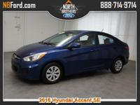 Options:  2016 Hyundai Accent |Miles: 33225Color: