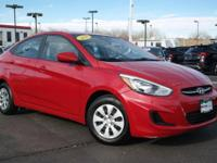 . FUEL EFFICIENT 37 MPG Hwy/26 MPG City! Hyundai