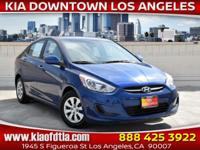 Clean CARFAX. 2016 Hyundai Accent SE 4D Sedan FWD