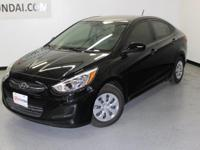 2016 Hyundai Accent SE 37/26 Highway/City MPGAwards:*