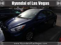 Accent SE, Hyundai Certified, 4D Sedan, Pacific Blue