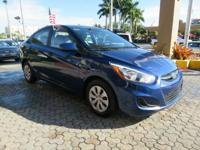 Options:  2016 Hyundai Accent Se 4Dr Sedan 6A|Blue|Door