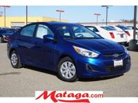 2016 Hyundai Accent SE in Pacific Blue Pearl with Gray