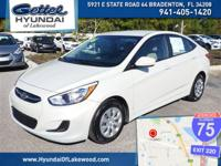 Accent SE, 4D Sedan, 6-Speed Automatic with Shiftronic,