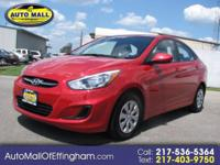 GREAT FUEL MILEAGE!!! This 2016 Hyundai Accent SE has