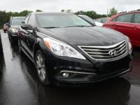 Clean CARFAX. Black 2016 Hyundai Azera FWD 6-Speed