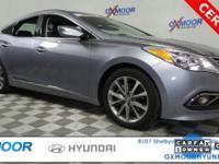 New Price! Certified. Hyundai Azera CARFAX One-Owner.
