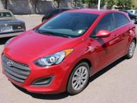 Clean CARFAX. Red 2016 Hyundai Elantra GT FWD 6-Speed