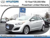 HYUNDAI CERTIFIED - ONLY 7K MILES One Owner GT Elantra