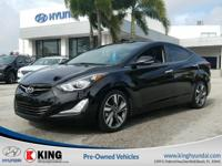 2016 HYUNDAI ELANTRA LIMITED SEDAN EDITION with a 1.8L