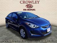 2016 Hyundai Elantra SE Lakeside Blue New Price! Priced