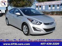 ONE OWNER!! 2016 Hyundai Elantra SE, 4D Sedan, 1.8L