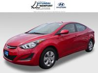 Treat yourself to this 2016 Hyundai Elantra SE, which