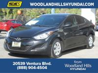 Options:  2016 Hyundai Elantra Se|Black/Gray|V4 1.8 L