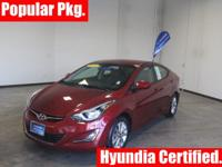 HYUNDAI CERTIFIED!! REMAINING 60 MOS/60000 BUMPER TO