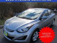 Win a steal on this certified 2016 Hyundai Elantra SE