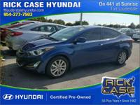 2016 Hyundai Elantra SE  in Lakeside Blue, 10 year or