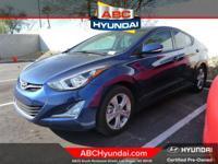 Hyundai Certified, ABS brakes, Alloy wheels, Electronic