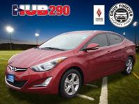 Keyless Entry This Venetian Red 2016 Hyundai Elantra is